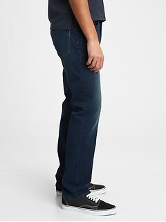Soft Wear Straight Jeans With Washwell™