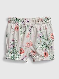 Shorts à enfiler en coton biologique à imprimé Agencez à volonté pour Bébé