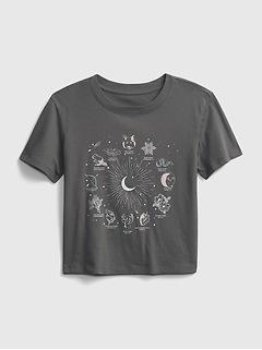 T-shirt coupe carrée à imprimé pour Enfant