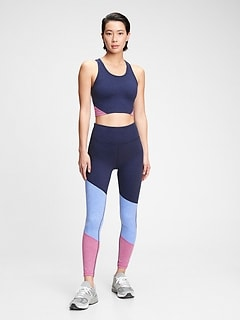 Legging GapFit en jersey techno brossé à couleurs contrastantes