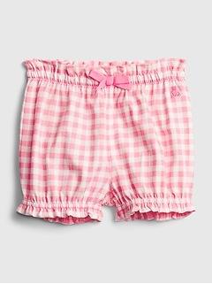 Shorts à enfiler en coton biologique à carreaux Agencez à volonté pour Bébé