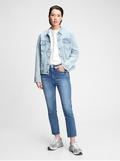 High Rise Cigarette Jeans with Secret Smoothing Pockets With Washwell™