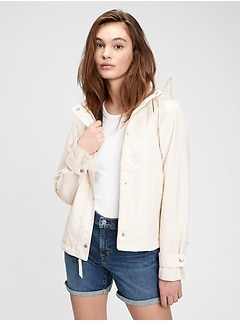 Recycled Cropped Anorak Jacket