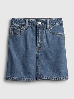 Kids High-Rise Denim Skirt