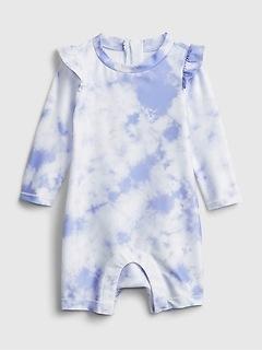 Baby Recycled Tie-Dye Swim Rash Guard One-Piece