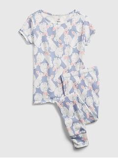 Pyjama en coton biologique à motif de lapin pour Enfant