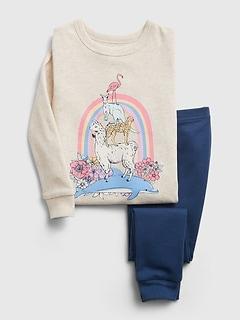 Pyjama en coton biologique à motif animalier babyGap