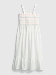 Kids Smocked Midi Dress