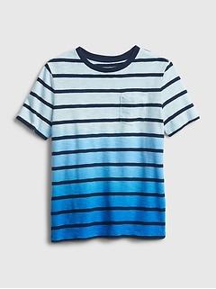 Kids Stripe Dip-Dye T-Shirt