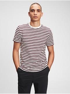 T-shirt ras du cou en fil flammé soyeux