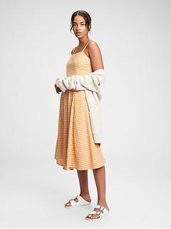 Fit & Flare Squareneck Midi Dress