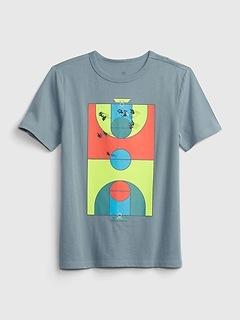T-shirt à imprimé en coton biologique pour Enfant