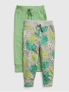 Toddler 100% Organic Cotton Pull-On Joggers (2-Pack)
