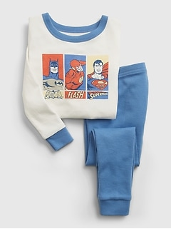 babyGap | DC™ Batman, Flash, and Superman 100% Organic Cotton PJ Set