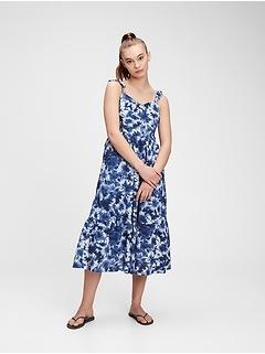V-Neck Cami Midi Dress