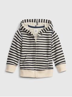 Baby Stripe Hoodie Sweater