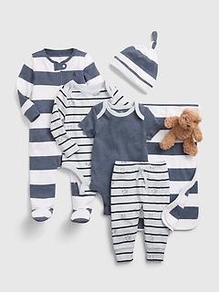 Tenue à motif d'ours Brannan pour Bébé, 7pièces