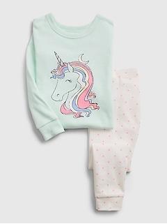Pyjama en coton biologique à imprimé de licorne babyGap