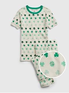 Pyjama en coton biologique à motif de la Saint-Patrick