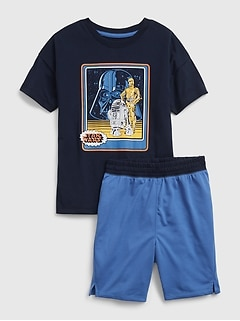 Pyjama en tissu recyclé à imprimé de droïde GapKids | Star Wars™