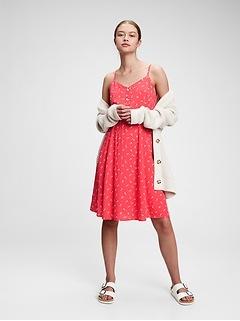 Fit & Flare Cami Print Dress