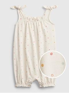 Une-pièce courte en coton biologique pour Bébé