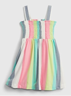 Toddler Stripe Smocked Dress