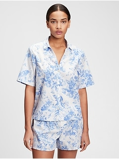 Poplin Pajama Shirt