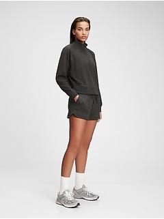 Chandail ras du cou GapFit en jersey brossé techno à demi-glissière