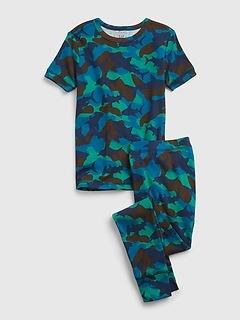Kids 100% Organic Cotton Shark Camo Print PJ Set