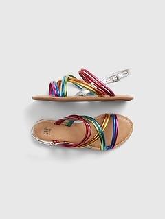 Kids Rainbow Strappy Sandals