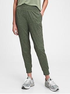 Pantalon de jogging GapFit en tissu brossé techno à taille haute