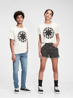 Teen | Red Hot Chili Peppers Graphic Recycled Polyester T-Shirt