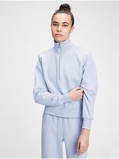 Vintage Soft Gap Logo Shrunken Half-Zip Sweatshirt