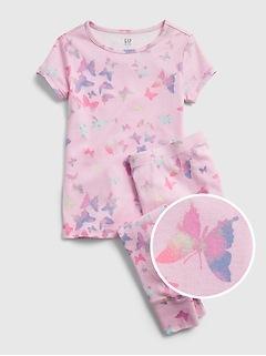 Pyjama en coton biologique à motif de papillon pour Enfant