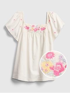 Kids Flutter Embroidered Shirt