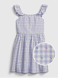 Kids Gingham Print Dress