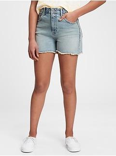 Teen Sky High Rise Denim Shorts