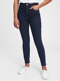 Teen Sky High Rise Skinny Jeans with Stretch