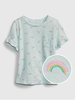 Toddler 100% Organic Cotton Ruffle T-Shirt