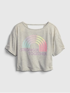 GapFit Kids Recycled Polyester Boxy Graphic T-Shirt