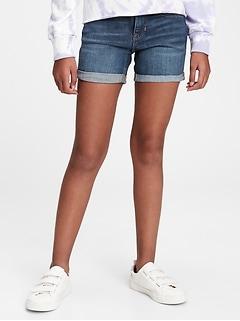 Kids Midi Denim Shorts with Stretch