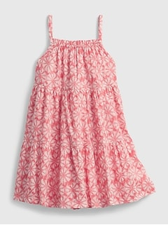 Toddler Floral Tiered Dress