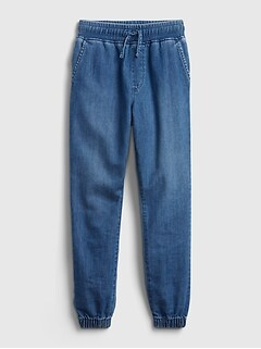 Kids Denim Pull-On Joggers with Washwell™