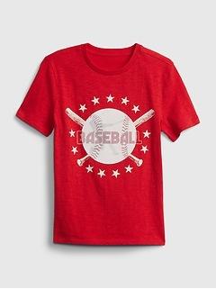 Kids 3D Baseball Graphic T-Shirt