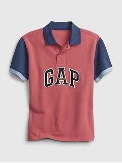 Kids Gap Logo Pique Polo Shirt