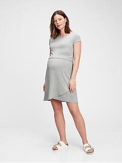 Maternity Overlay Nursing Dress