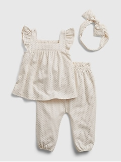 Baby 100% Organic Cotton Outfit Set
