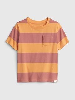Toddler 100% Organic Cotton Mix and Match Stripe T-Shirt