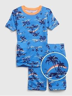 Kids 100% Organic Cotton Tropical Graphic PJ Set
